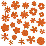 Bazzill Basics - Flower Pot Collection - Shimmer Paper Flowers - Tootsie