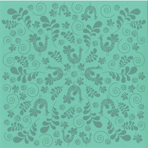 Bazzill Basics - 12 x 12 Glazed Cardstock - Fancy Bird - Navajo