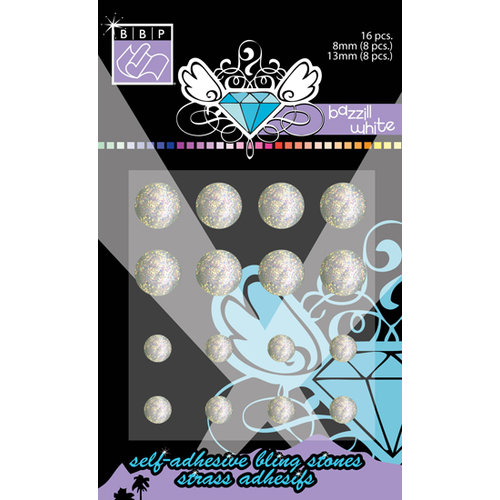 Bazzill Basics - Self Adhesive Bling Stones - Bazzill White, CLEARANCE