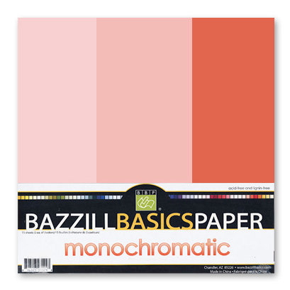 Bazzill - Monochromatic Trio Packs - 12 x 12 - Flamingo