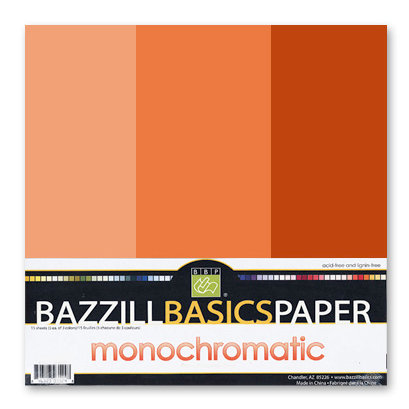 Bazzill - Monochromatic Trio Packs - 12 x 12 - Saltillo