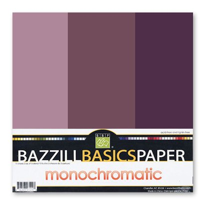 Bazzill - Monochromatic Trio Packs - 12 x 12 - Velvet