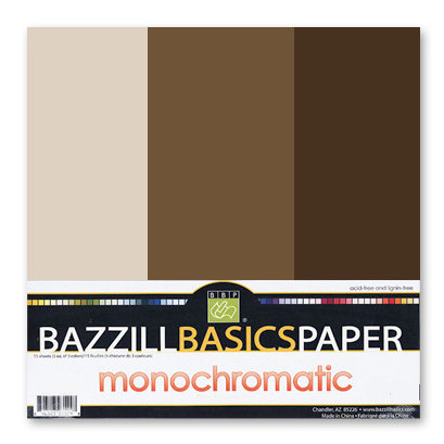 Bazzill - Monochromatic Trio Packs - 12 x 12 - Brown
