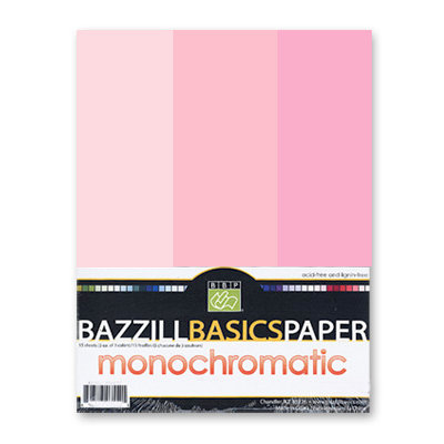 Bazzill - Monochromatic Trio Packs - 8.5 x 11 - Petunia