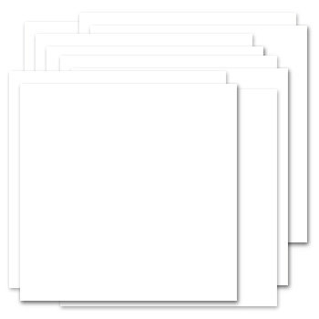 Bazzill Basics - Bulk Cardstock Pack - 15 Sheets - 12 x 12 Double Thick - White