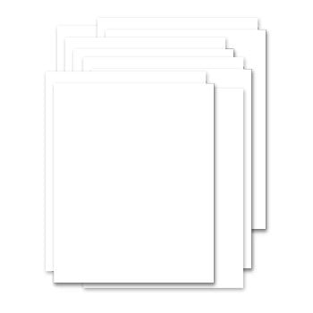 Bazzill Basics - Bulk Cardstock Pack - 15 Sheets - 8.5 x 11 Double Thick - White