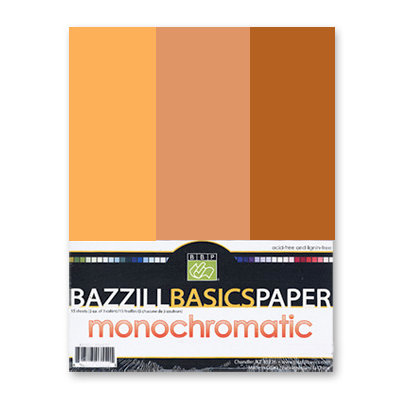 Bazzill - Monochromatic Trio Packs - 8.5 x 11 - Yam