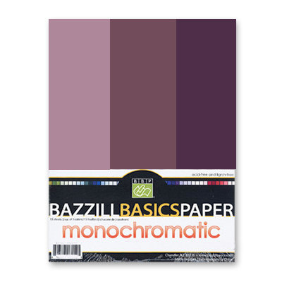 Bazzill - Monochromatic Trio Packs - 8.5 x 11 - Velvet