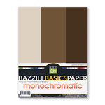 Bazzill - Monochromatic Trio Packs - 8.5 x 11 - Brown