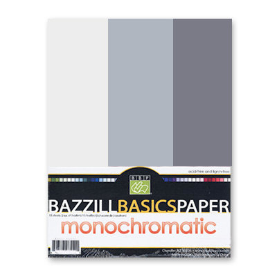 Bazzill - Monochromatic Trio Packs - 8.5 x 11 - Thunder