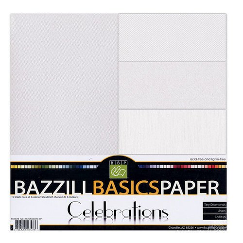 Bazzill Basics - Celebrations - 12 x 12 Cardstock Multi-Pack - 15 Sheets