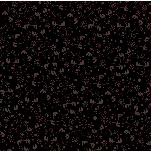 Bazzill Basics - Christmas - 12 x 12 Glazed Cardstock - Reindeer Heads - Milkshake