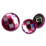 Bazzill Basics - Timeless Collection - Buttons - Bling - Hot Pink