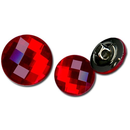 Bazzill - Timeless Collection - Buttons - Bling - Candy Apple
