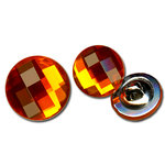 Bazzill Basics - Timeless Collection - Buttons - Bling - Tangerine Blast