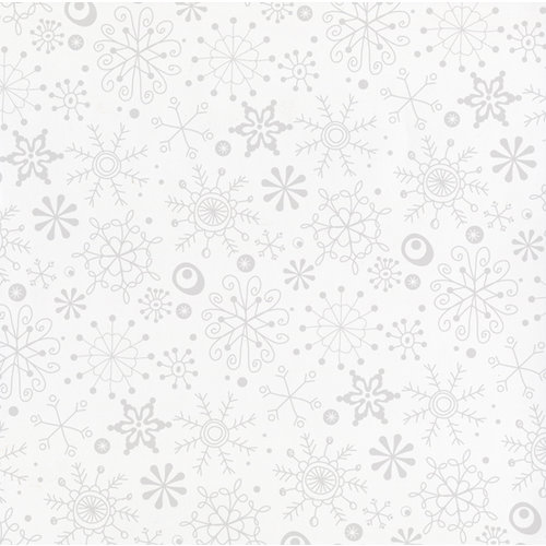 Bazzill - 12 x 12 Glazed Cardstock - Snow Flurry - Avalanche