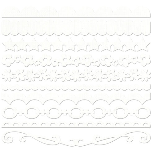 Bazzill Basics - Half The Edge II Collection - 6 Inch Cardstock Strips - Bazzill White, CLEARANCE