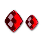 Bazzill Basics - Baubles Collection - Bling - Diamond - Ruby