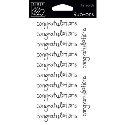 Bazzill - Rub Ons - Congratulations