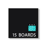 Bazzill Basics - 6 x 6 Black Board - Chipboard Pack - 15 Sheets