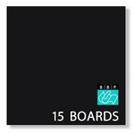 Bazzill - 12 x 12 Black Board - Chipboard Pack - 15 Sheets