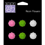 Bazzill Basics - Jaybird Street Collection - Resin Flowers