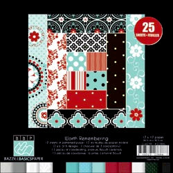 Bazzill Basics - Worth Remembering Collection - 12 x 12 Assortment Pack