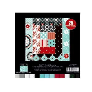 Bazzill Basics - Worth Remembering Collection - 8 x 8 Assortment Pack