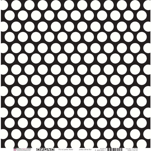 Bazzill Basics - Love Story Collection - 12 x 12 Double Sided Paper - Jumbo White Dot