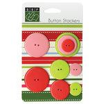 Bazzill - Christmas - Button Stackers - Xmas Circle