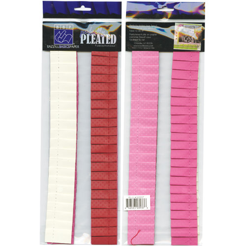 Bazzill - Love Story Collection - Just the Edge - 12 Inch Cardstock Strips - Perfectly Pleated