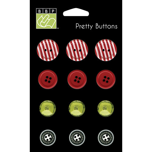 Bazzill - Holiday Style Collection - Christmas - Pretty Buttons