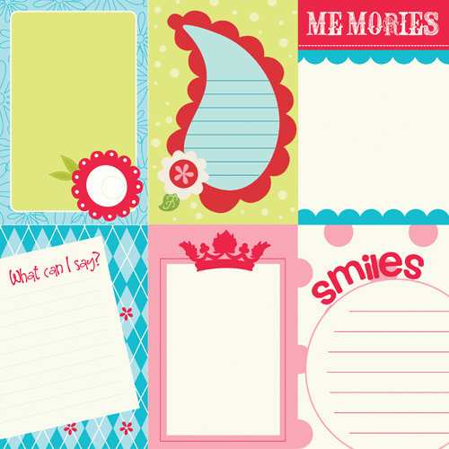 Bazzill - Divinely Sweet Collection - Lickety Slip - 12 x 12 Double Sided Paper - Vertical