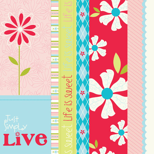 Bazzill Basics - Divinely Sweet Collection - Lickety Slip - 12 x 12 Double Sided Paper - Borders