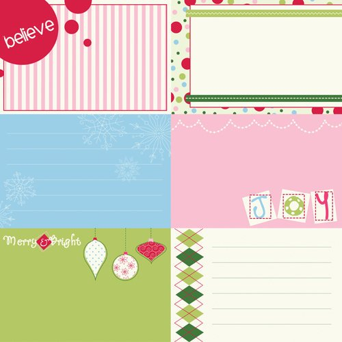 Bazzill Basics - Holiday Style Collection - Christmas - Lickety Slip - 12 x 12 Double Sided Paper - Horizontal
