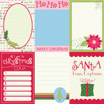 Bazzill Basics - Holiday Style Collection - Christmas - Lickety Slip - 12 x 12 Double Sided Paper - Vertical