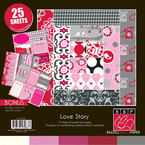 Bazzill Basics - Love Story Collection - 12 x 12 Assortment Pack