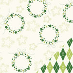 Bazzill Basics - Holiday Style Collection - Christmas - 12 x 12 Double Sided Paper - Christmas Wreath