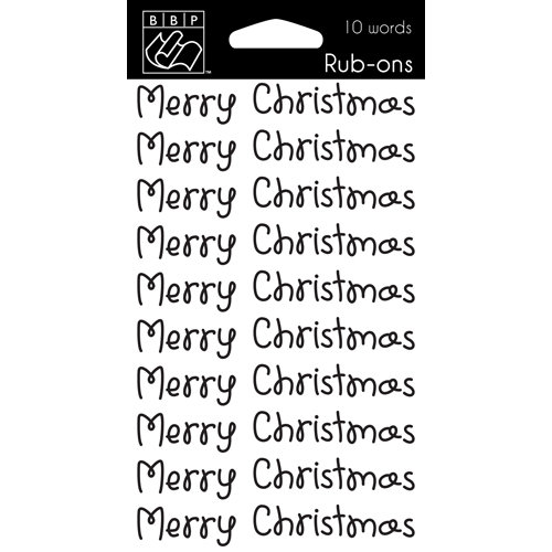 Bazzill - Christmas - Rub Ons - Merry Christmas