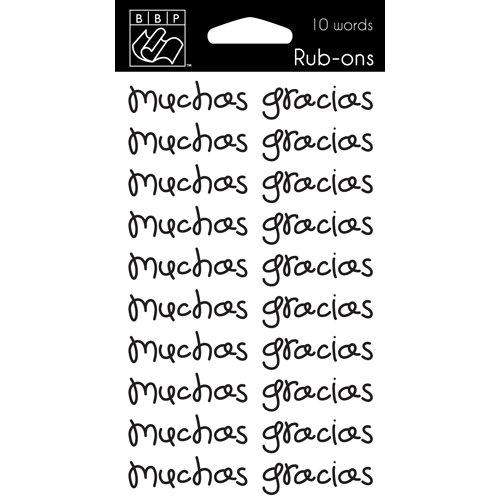 Bazzill Basics - Rub Ons - Muchas Gracias