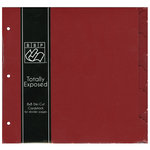 Bazzill Basics - 8 x 8 Cardstock Divider Pages with Tabs - Set of 5 - Ruby Slipper