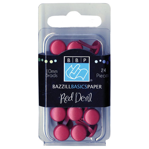 Bazzill - Brads - Round 10mm - Red Devil