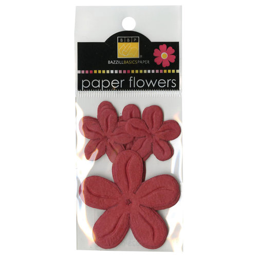 Bazzill - Paper Flowers - Posies - Red Devil