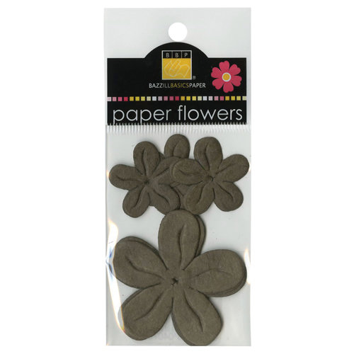 Bazzill - Paper Flowers - Posies - Brown