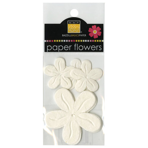 Bazzill - Paper Flowers - Posies - White