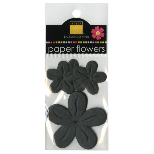 Bazzill - Paper Flowers - Posies - Black