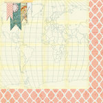 Bazzill - Janet Hopkins - Wayfarer Collection - 12 x 12 Double Sided Paper - Sightseer