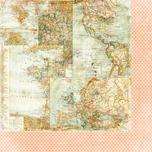 Bazzill Basics - Janet Hopkins - Wayfarer Collection - 12 x 12 Double Sided Paper - Drifter
