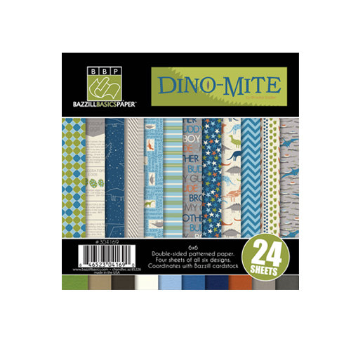 Bazzill - Dino-Mite Collection - 6 x 6 Assortment Pack
