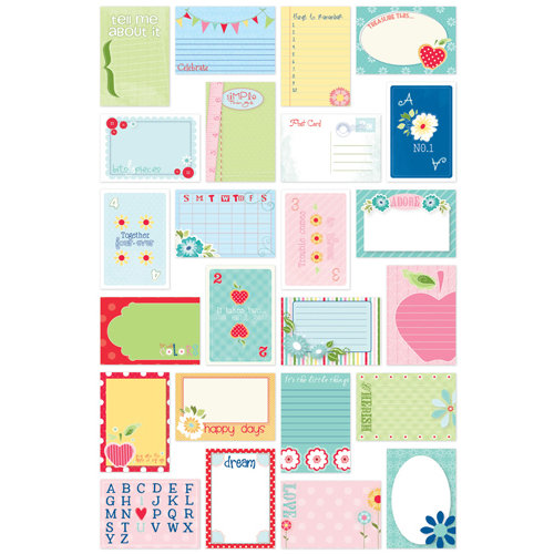 Bazzill - Avalon Collection - Lickety Slip - 4 x 6 Journaling Cards